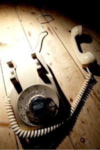 Talk to Me - cream telephone