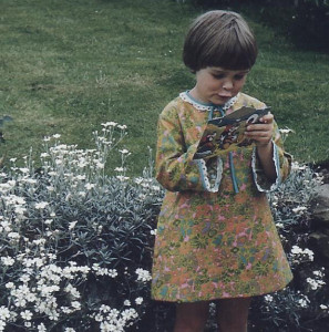 Ellen in Joyce's garden (1)